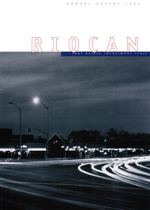 Riocan Annual Report Cover 1995