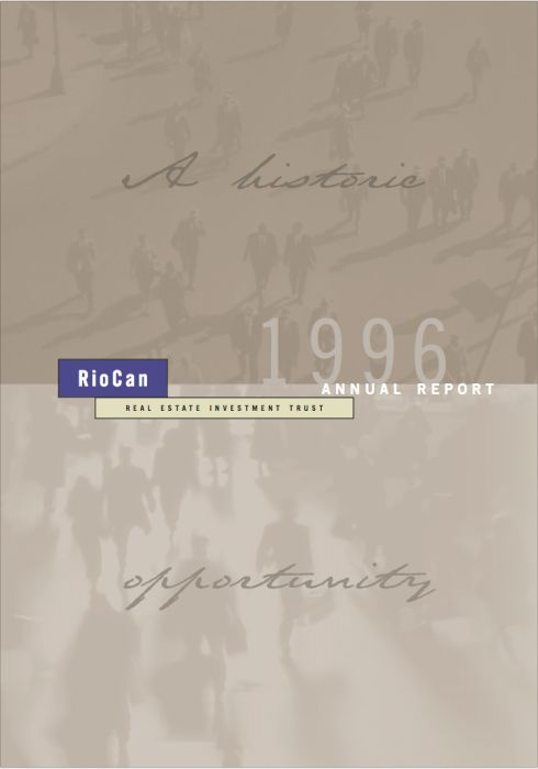 Riocan Annual Report Cover 1996