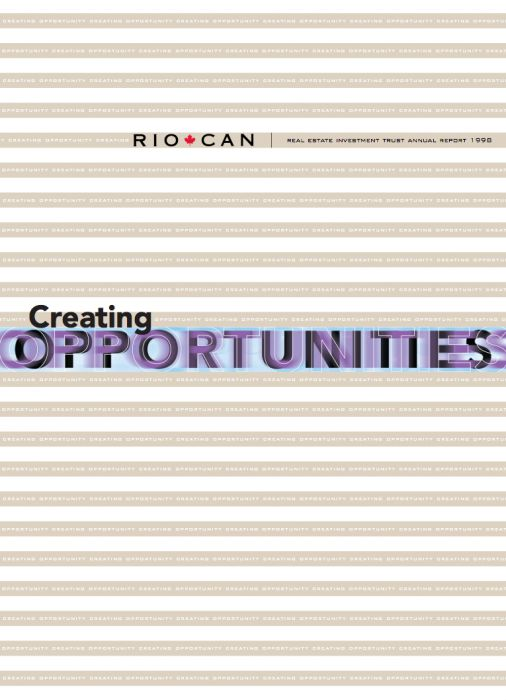 Riocan Annual Report Cover 1998