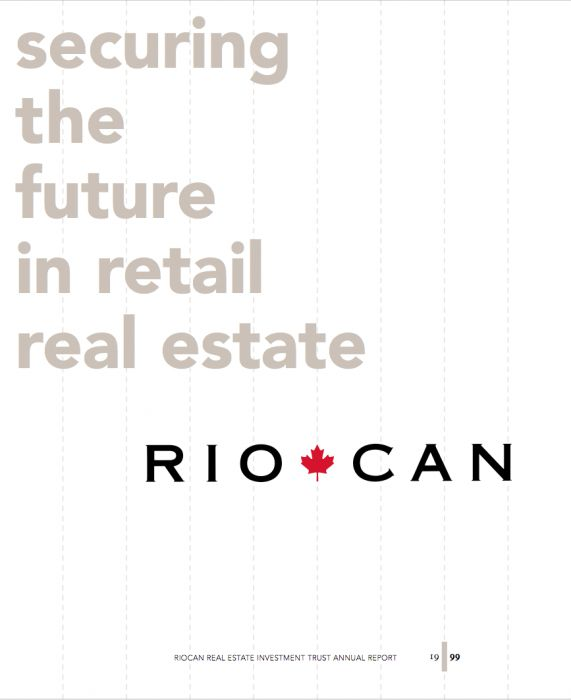 Riocan Annual Report Cover 1999