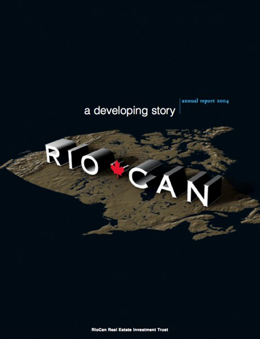 Riocan Annual Report Cover 2004