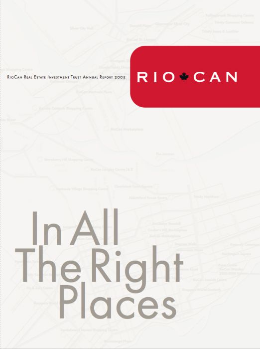 Riocan Annual Report Cover 2005