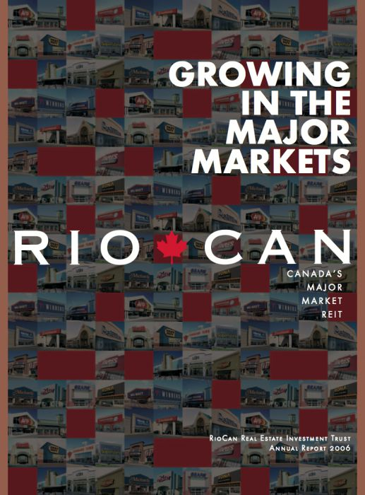 Riocan Annual Report Cover 2006