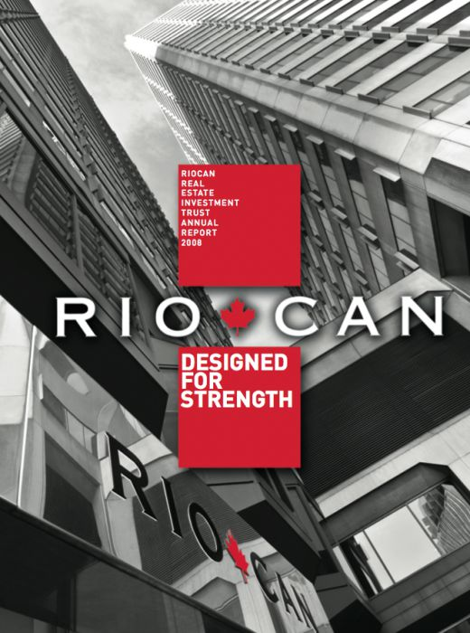 Riocan Annual Report Cover 2008