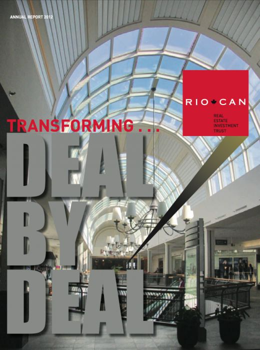 Riocan Annual Report Cover 2012